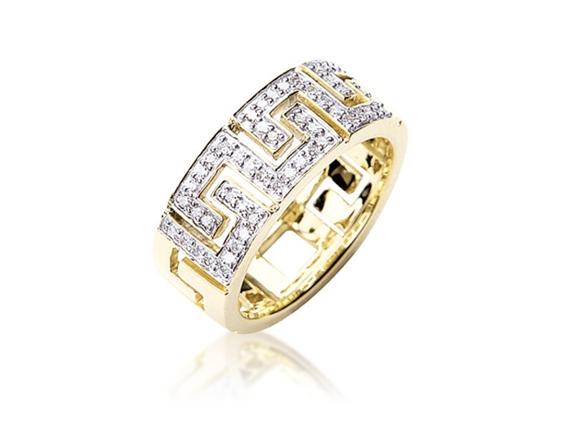 9ct Yellow Gold & 0.22ct Diamonds Wedding Ring