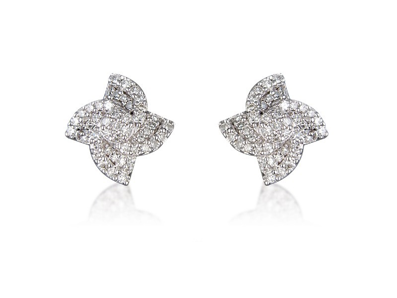 9ct White Gold 0.40ct Diamond Stud Earrings