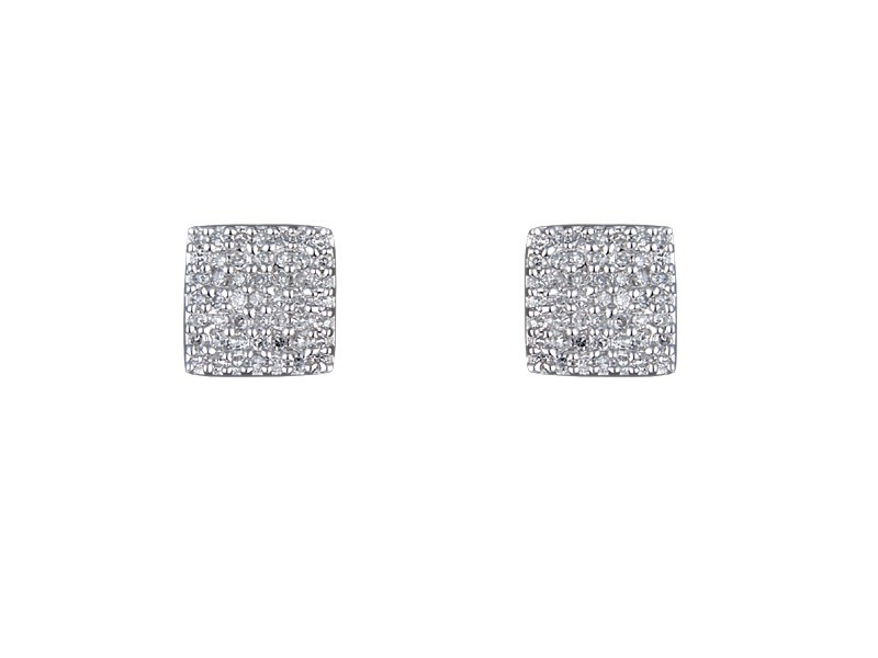 9ct White Gold 0.30ct Diamond Stud Earrings