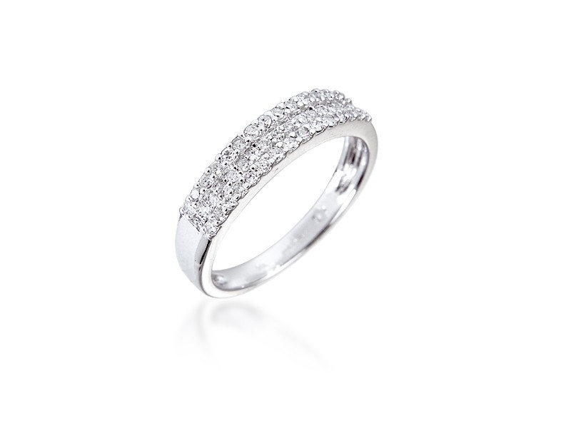 9ct White Gold Eternity Ring with 0.22ct Diamonds.