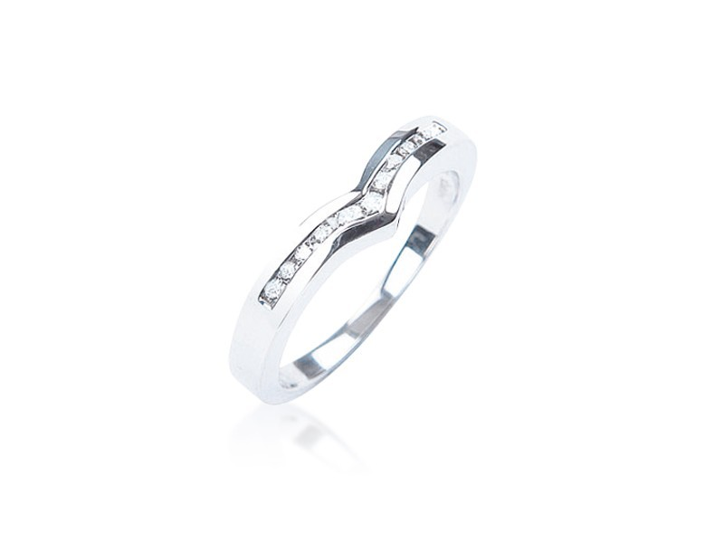 9ct White Gold Eternity Ring with 0.15ct Diamonds.