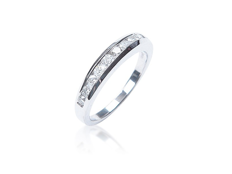9ct White Gold Eternity Ring with 0.50ct Diamonds.