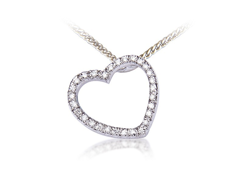 9ct White Gold Pendant with 0.25ct Diamonds.