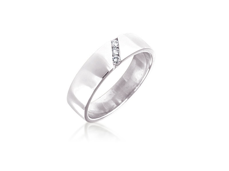 9ct White Gold & 0.10ct Diamonds 5mm Wedding Ring