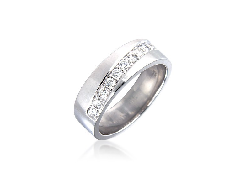 9ct White Gold & 0.33ct Diamonds 5mm Wedding Ring