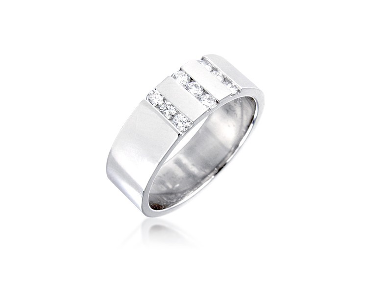9ct White Gold & 0.30ct Diamonds 6mm Wedding Ring