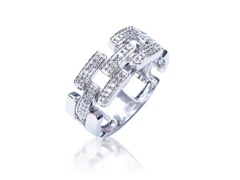 9ct White Gold & 0.15ct Diamonds Wedding Ring