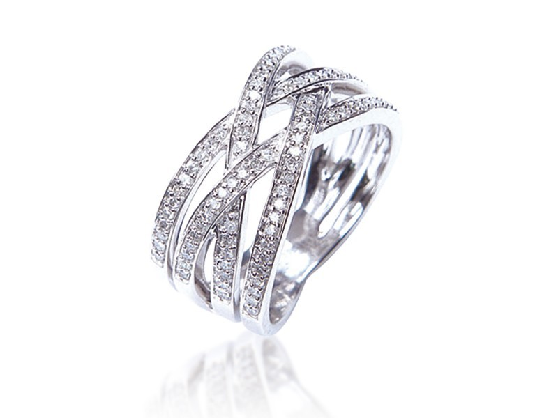 9ct White Gold & 0.45ct Diamonds Wedding Ring