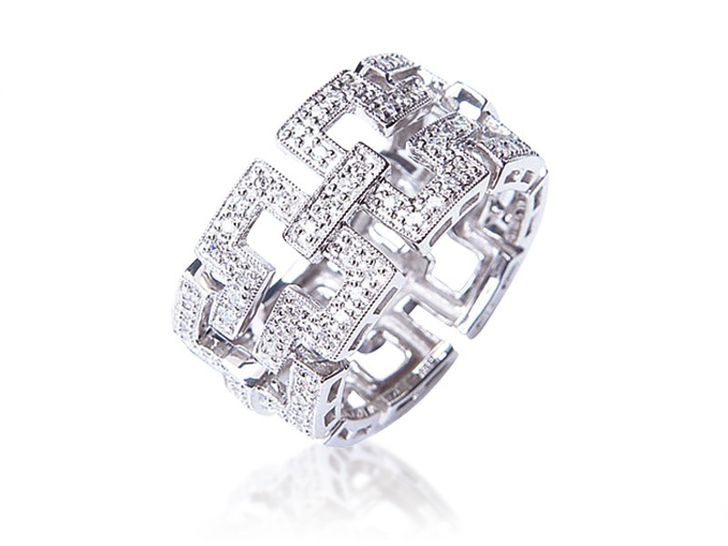 9ct White Gold & 0.25ct Diamonds Wedding Ring