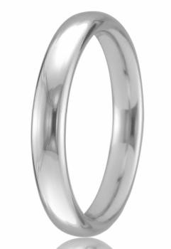 9ct White Gold 2mm Court Wedding Band 2.3gms