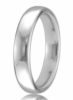 9ct White Gold 3mm Court Wedding Band 3.1gms