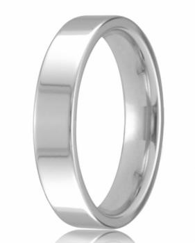 9ct White Gold 4mm Easy Fit Wedding Band 4.7gms