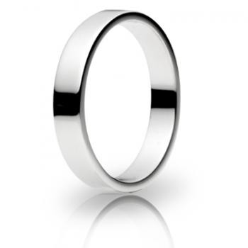 9ct White Gold 4mm Flat Shape Wedding Band 4.6gms