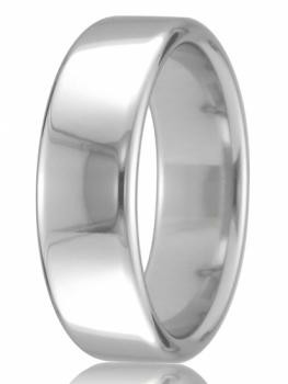 9ct White Gold 5mm Court Wedding Band 6.6gms
