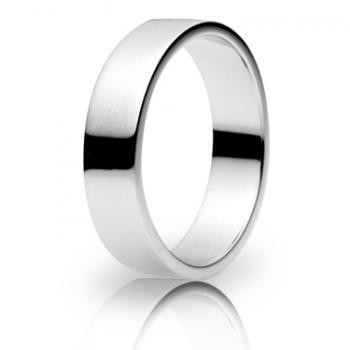 9ct White Gold 5mm Flat Shape Wedding Band 5.7gms