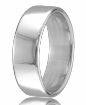 9ct White Gold 6mm Court Wedding Band 10.2gms