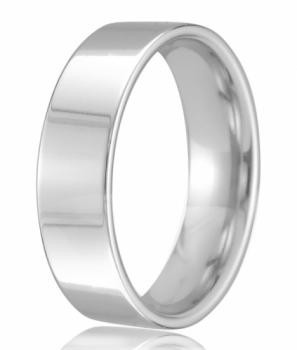 9ct White Gold 6mm Easy Fit Wedding Band 8.4gms