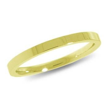9ct Yellow Gold 2mm Flat Shaped Wedding Band 1.6gms