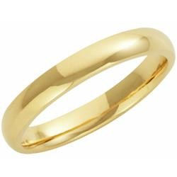 9ct Yellow Gold 3mm Court Wedding Band 3.5gms