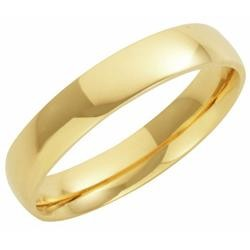 9ct Yellow Gold 4mm Court Wedding Band 4.7gms