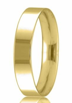 9ct Yellow Gold 4mm Easy Fit Wedding Band 4.7gms