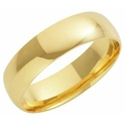 9ct Yellow Gold 6mm Court Wedding Band 9.3gms