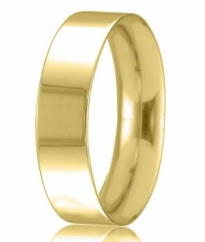 9ct Yellow Gold 6mm Easy Fit Wedding Band 7.6gms