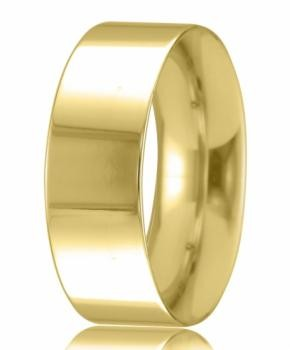 9ct Yellow Gold 8mm Easy Fit Wedding Band 10.0gms