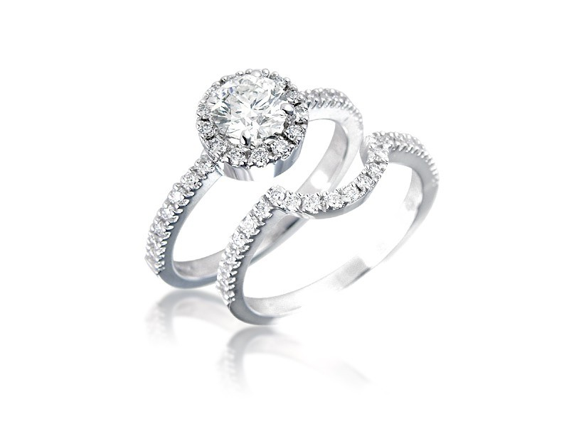 Platinum 1.20ct Diamonds Bridal Set