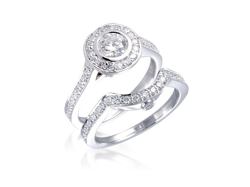 Platinum 1.25ct Diamonds Bridal Set