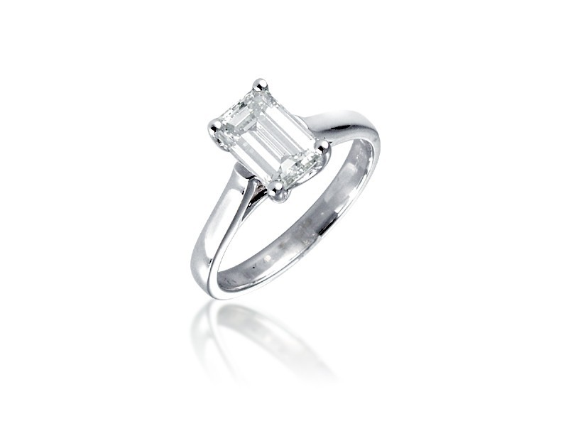 Platinum 1.50ct Diamond Solitaire Engagement Ring