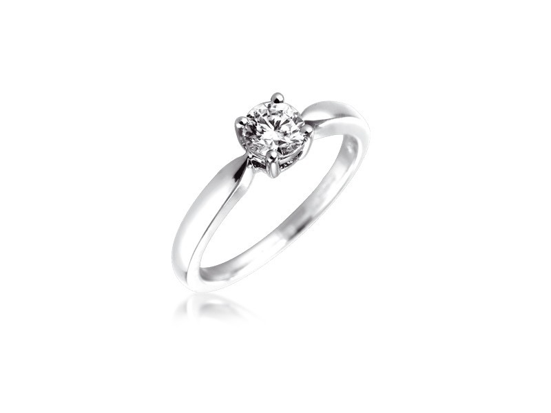 Platinum 0.50ct Diamond Solitaire Engagement Ring