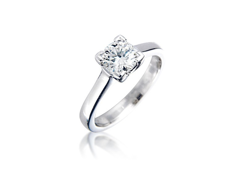 Platinum 0.80ct Diamond Solitaire Engagement Ring