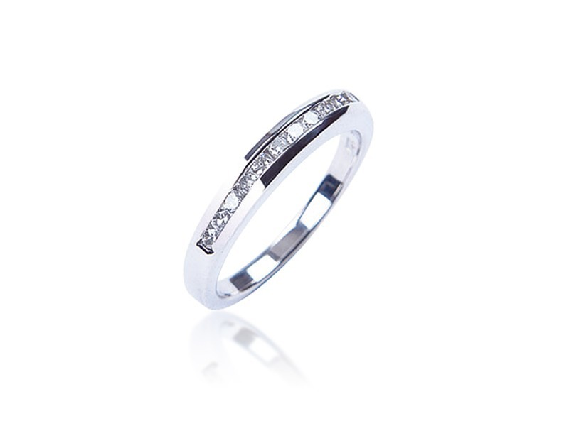 Platinum Eternity Ring with 0.25ct Diamonds.