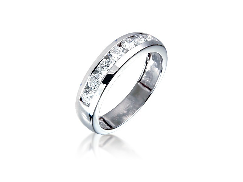 Platinum Eternity Ring with 0.75ct Diamonds.