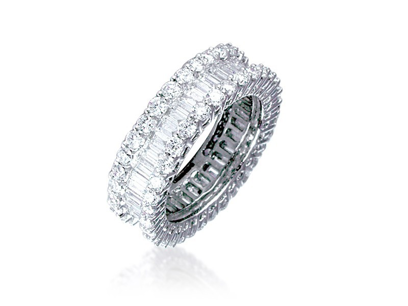 Platinum & 3.50ct Diamonds Wedding Ring