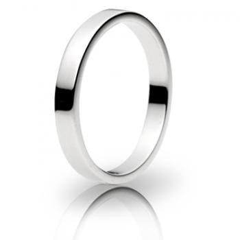 Platinum 3mm Flat Wedding Band 5.8gms