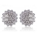 9ct White Gold 3.00ct Diamond Stud Earrings